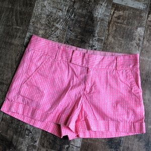 Pretty pink/white checkered Lilly Pulitzer shorts